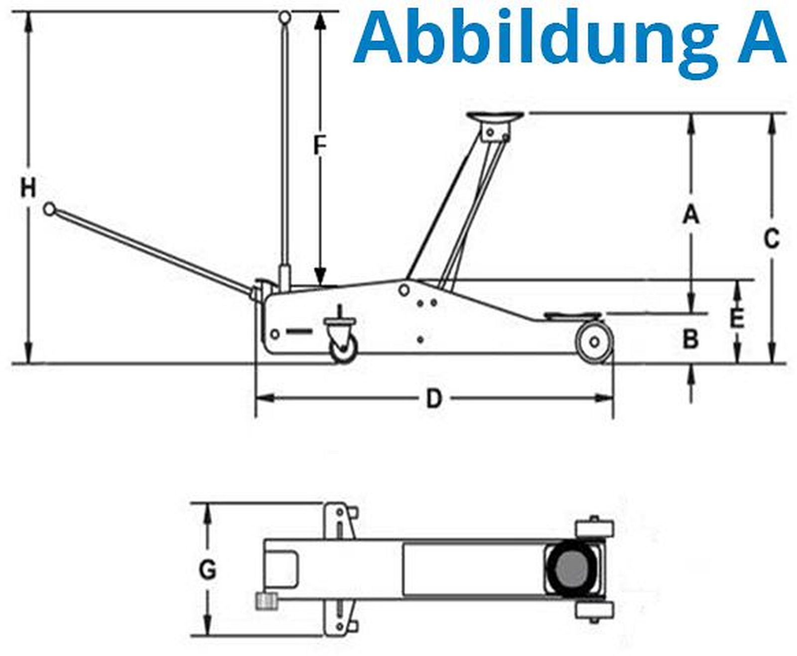 g de 18037 hydraulik wagenheber alu aluminium. Black Bedroom Furniture Sets. Home Design Ideas