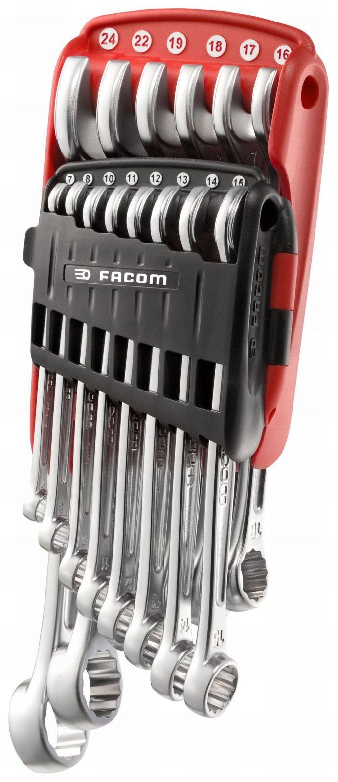FACOM Profi  Ringmaulschlüssel Maulringschlüssel  7 bis 24mm  14 tlg mit Halter